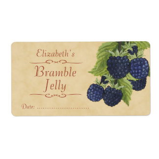 Blackberry Canning label Shipping Label