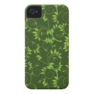 Blackberry case with  green decorative  leafs