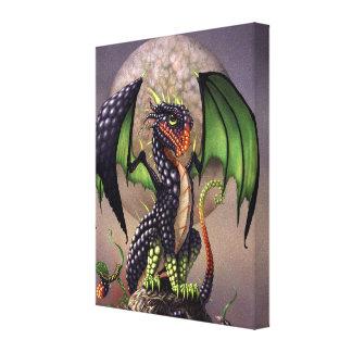Blackberry Dragon 8x10 Canvas Print