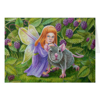 Blackberry Fairy and Pet Mouse Card