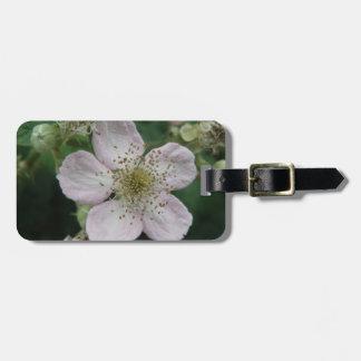 Blackberry Flower Macro Custom Luggage Tag