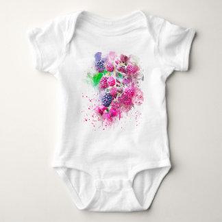 blackberry fruit art abstract baby bodysuit