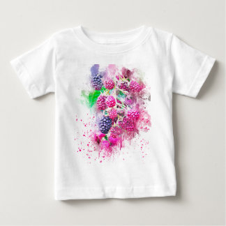 blackberry fruit art abstract baby T-Shirt