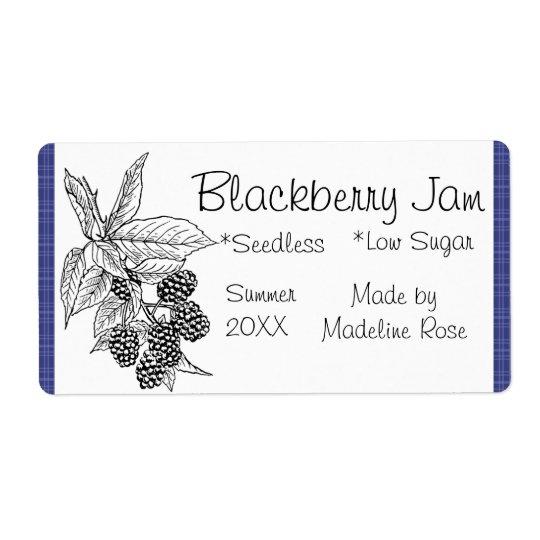 Blackberry Jam Jar Label (Custom)