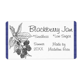 Blackberry Jam Jar Label (Custom) Shipping Label