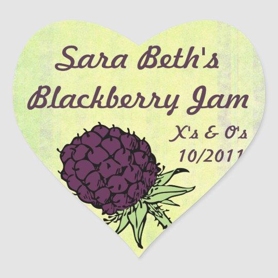 Blackberry Jam Jar Label (Customize)
