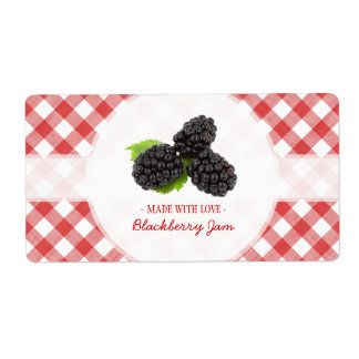 Blackberry Jam label Shipping Label