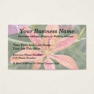 Blackberry Lily Business Card