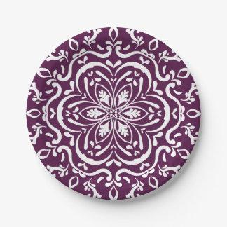 Blackberry Mandala 7 Inch Paper Plate