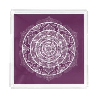 Blackberry Mandala Acrylic Tray