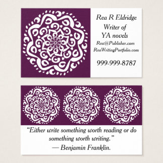 Blackberry Mandala Business Card