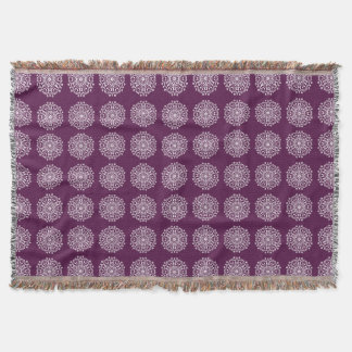 Blackberry Mandala Throw Blanket