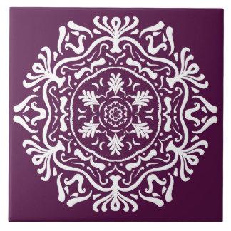 Blackberry Mandala Tile