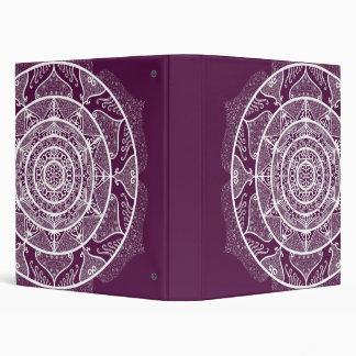 Blackberry Mandala Vinyl Binder