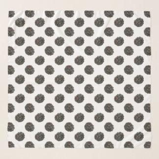 Blackberry. Polka dots. fruits pattern. Scarf