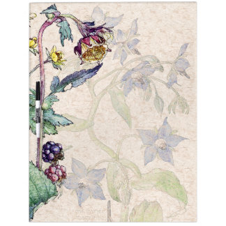 Blackberry Vine Berries Flowers Dry Erase Board