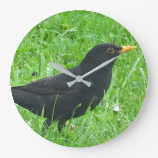 Blackbird image for Round (Large) Wall Clock