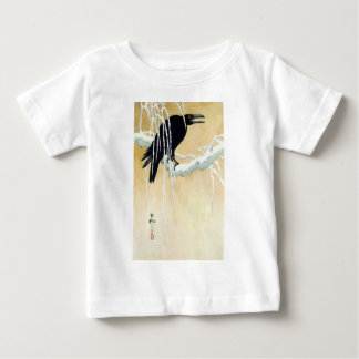 Blackbird in Snow, Ikeda Koson Baby T-Shirt