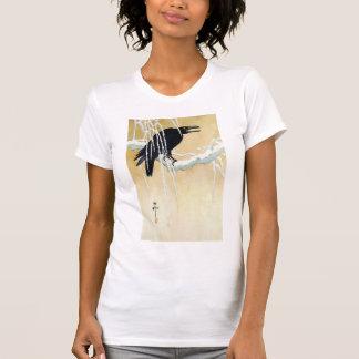 Blackbird in Snow Ikeda Koson Shirts