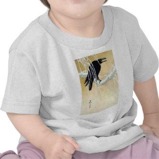Blackbird in Snow Ikeda Koson T Shirts