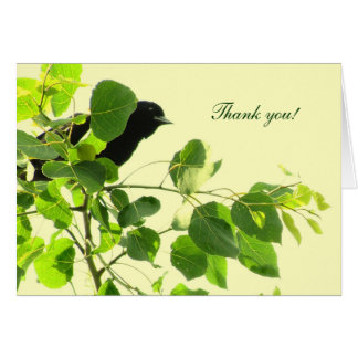 Blackbird Wedding Thank You Card
