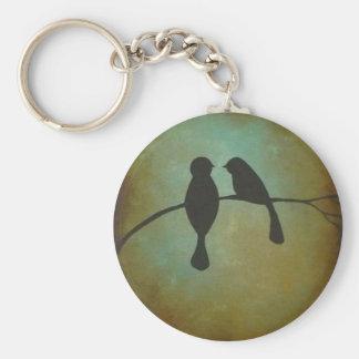 Blackbirds Basic Round Button Keychain