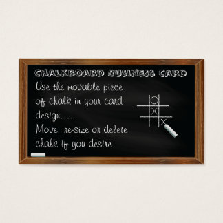 Blackboard and Chalk Business Card Template