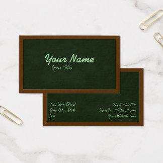 Blackboard Chalkboard Teacher School Business Card