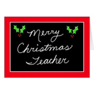 Blackboard Christmas Greeting Card for Teacher
