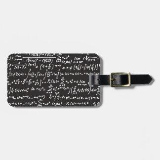 Blackboard Math Equations Luggage Tag