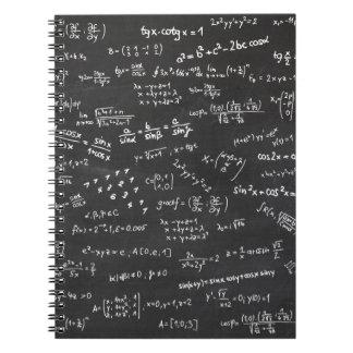 Blackboard Math Spiral Note Book