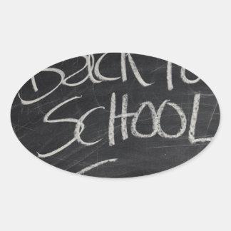 Blackboard Oval Sticker