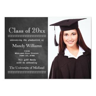 Blackboard Photo Graduation Announcement