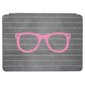 Blackboard Pink Hipster Glasses iPad Air Cover