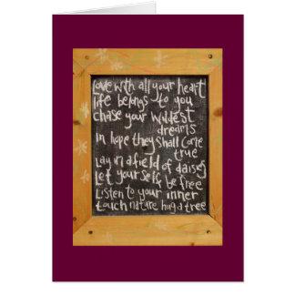 Blackboard Poetry Card