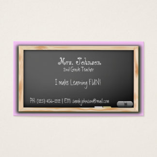 Blackboard Teacher Business Cards