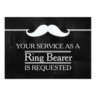 Blackboard Your Service as a Groomsman Request Card