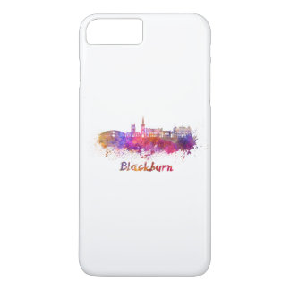 Blackburn skyline in watercolor iPhone 8 plus/7 plus case