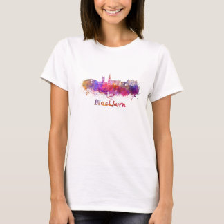 Blackburn skyline in watercolor T-Shirt