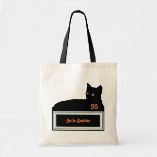 blackcat / personalized tote bag