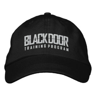 Blackdoor Training Program (black cap) Embroidered Hats