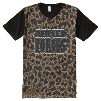 Blacked Armed Forces Military Panel T-Shirt
