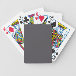 Blackened Pearl Gray Color Bicycle Playing Cards