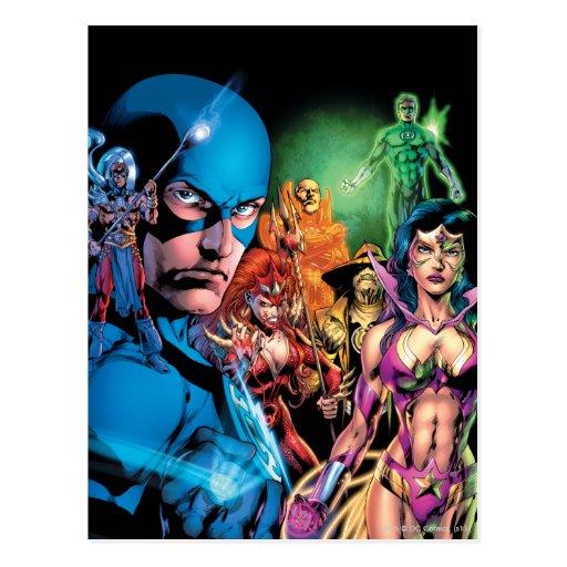 Blackest Night Comic Panel 2 - Color Post Card