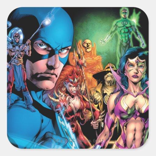 Blackest Night Comic Panel 2 - Color Square Stickers