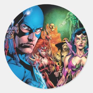 Blackest Night Comic Panel 2 - Color Round Sticker