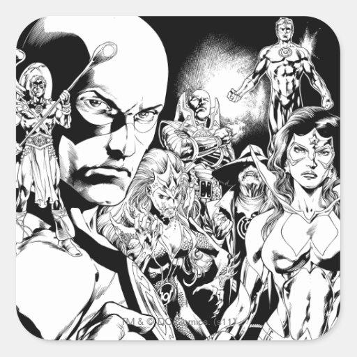 Blackest Night Comic Panel 2 Square Stickers