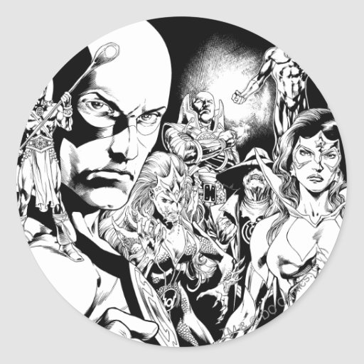 Blackest Night Comic Panel 2 Stickers