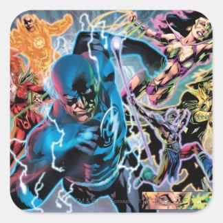 Blackest Night Comic Panel - Color Square Sticker