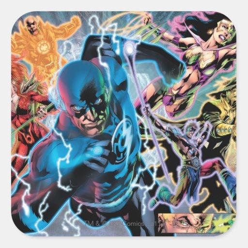 Blackest Night Comic Panel - Color Stickers